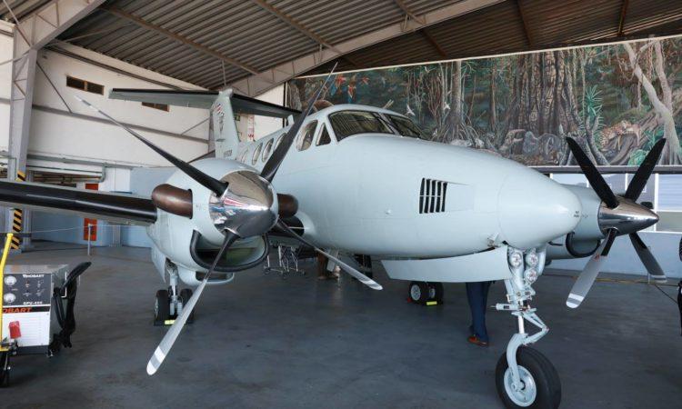King Air F90 plane