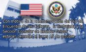 Con motivo de la conmemoración del Día del Encuentro de las Culturas, la Embajada y la Sección Consular de Estados Unidos estarán cerradas el lunes 15 de octubre