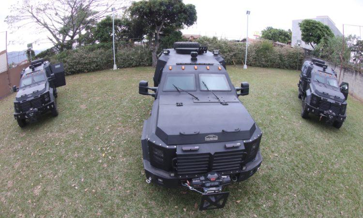 Vehículos blindados refuerzan la seguridad en Costa Rica