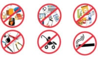 For security reasons, the following items are not permitted on Embassy grounds