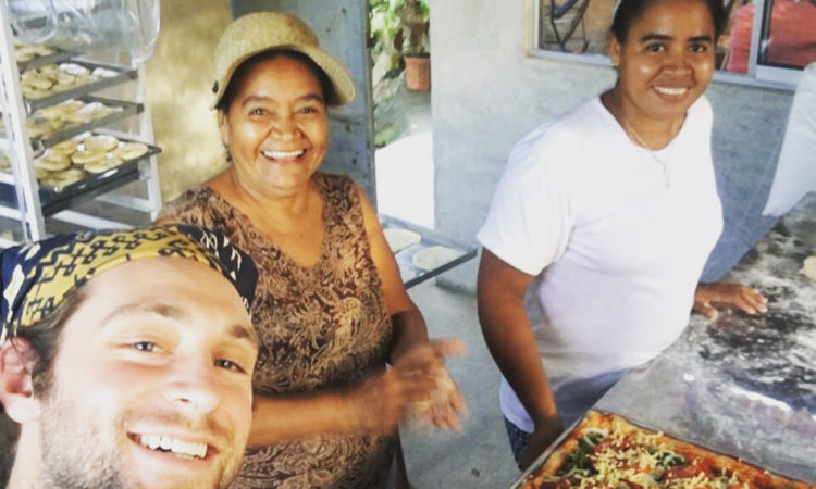 Peace Corps Volunteer Collin traveled from his site in Talamanca, on Costa Rica's southern Caribbean coast, all the way to the Northern Zone earlier this year to learn more about the functionality of a recently implemented Bricks to Bread oven.